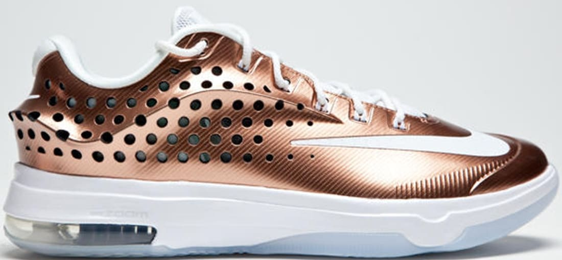new styles b0b47 bb380 Nike · Nike KD · Nike KD 7 (VII). Nike KD VII Elite LMTD Metallic Red Bronze  White-Treasure Blue-Pure Platinum
