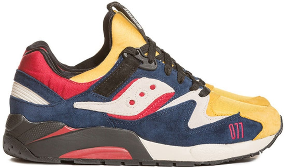 Saucony Grid 9000 Dress Blue/Chili Pepper Red-Mimosa Yellow