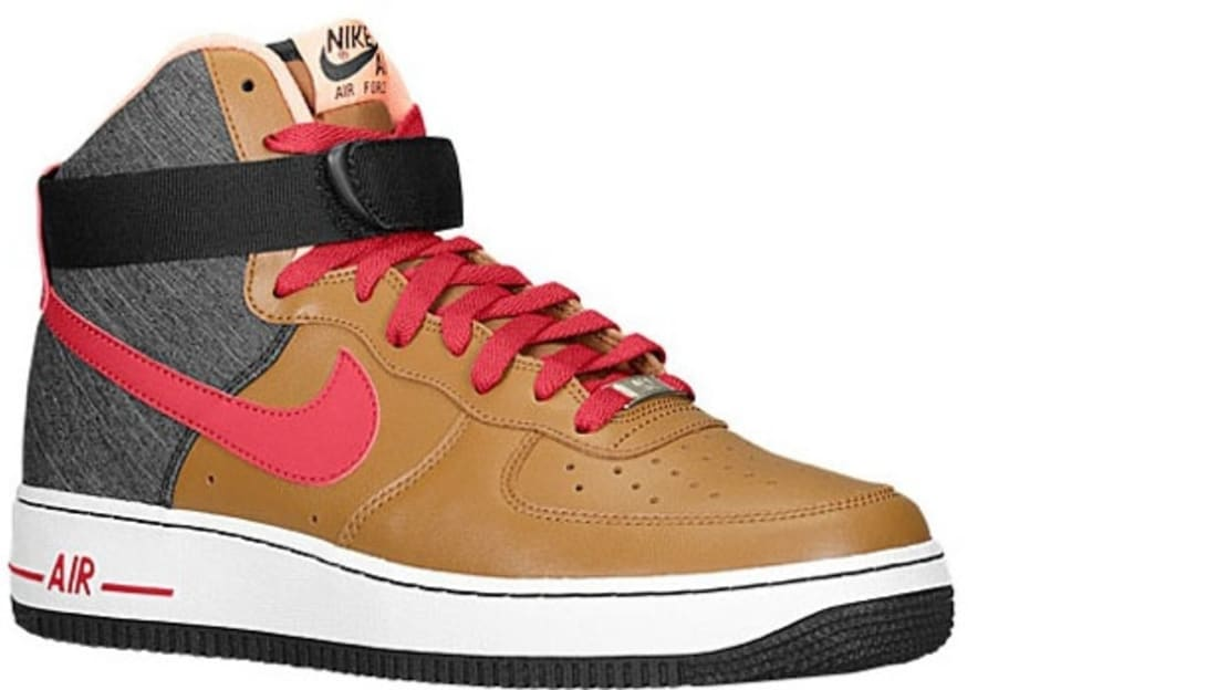 half off b2436 61669 Nike Air Force 1 High Ale Brown Noble Red-Black