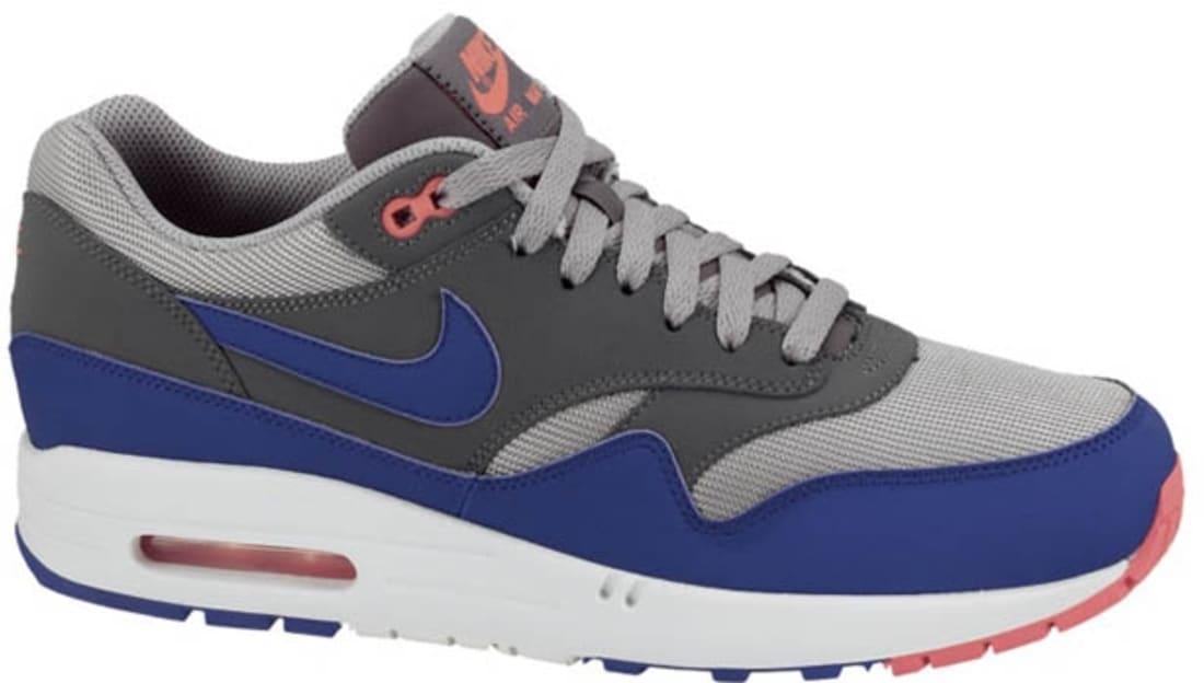 size 40 12b23 ca08a Nike Air Max 1 Essential Medium Grey Ultramarine-Dark Grey-Solar Red