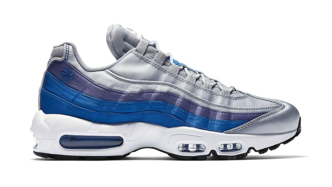 01a605ad3e48ae Nike Air Max 95 Wolf Grey Blue Nebula Purple Slate White