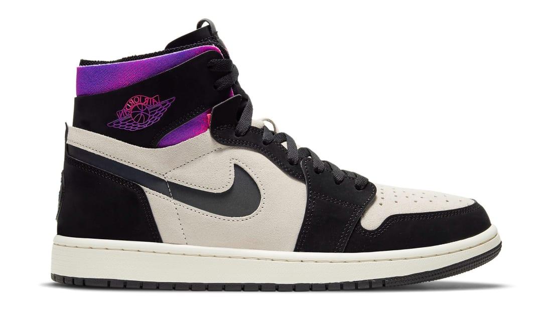 Paris Saint-Germain x Air Jordan 1 High Zoom CMFT White/Black/Psychic Purple/Hyper Pink