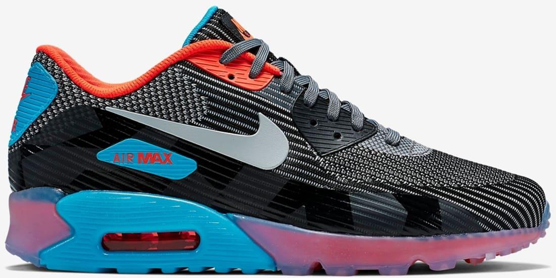 Nike Air Max 90 Jacquard Ice QS (Dark Grey Wolf Grey Black
