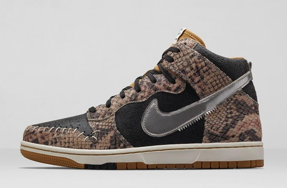 premium selection c3a90 c5301 Nike Dunk High CMFT Premium QS Black/Metallic Silver | Nike | Sole ...