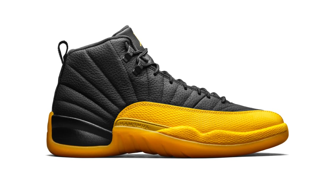 Air Jordan 12 Retro Black/Black-University Gold