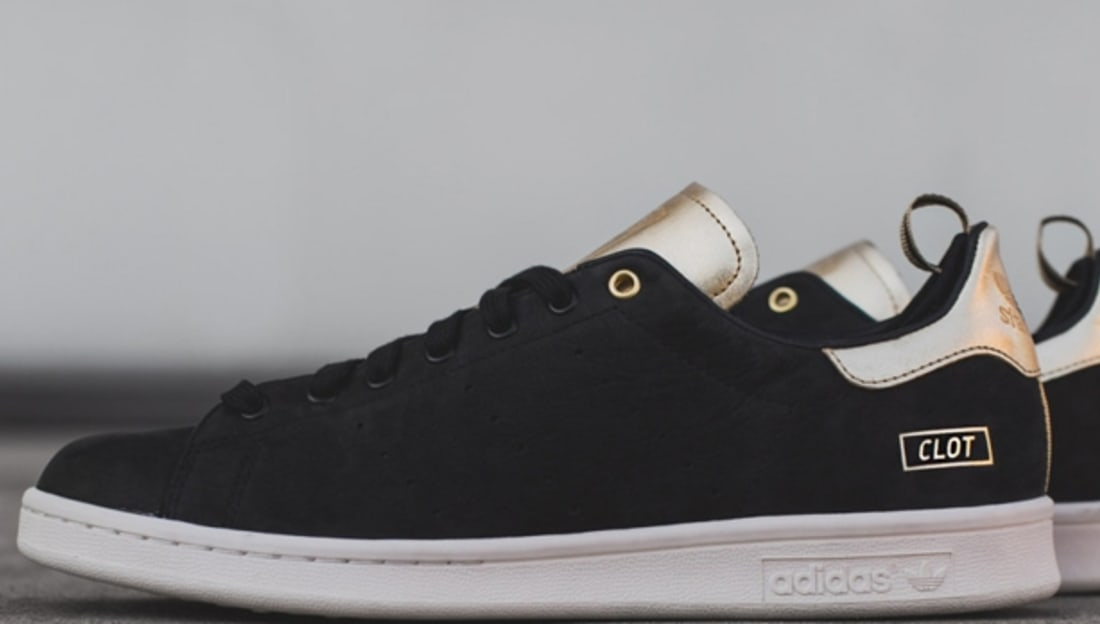 adidas Consortium Stan Smith Black/Metallic Gold