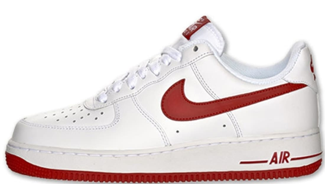 nike air force ones red and white