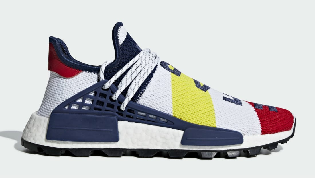 BBC x Pharrell Williams x Adidas NMD Hu Scarlet/Multicolor