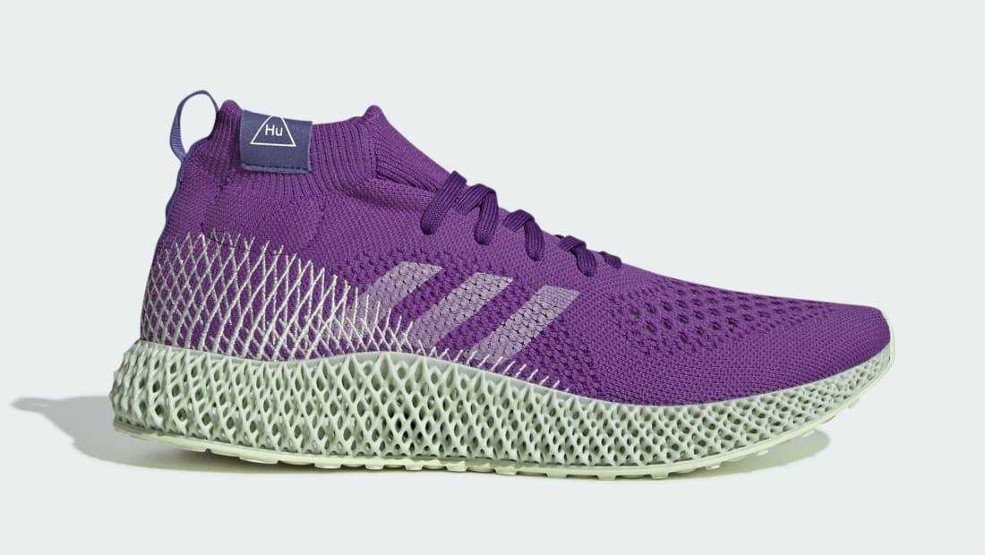 Pharrell x Adidas 4D Runner Mid Active Purple/Running White-Purple