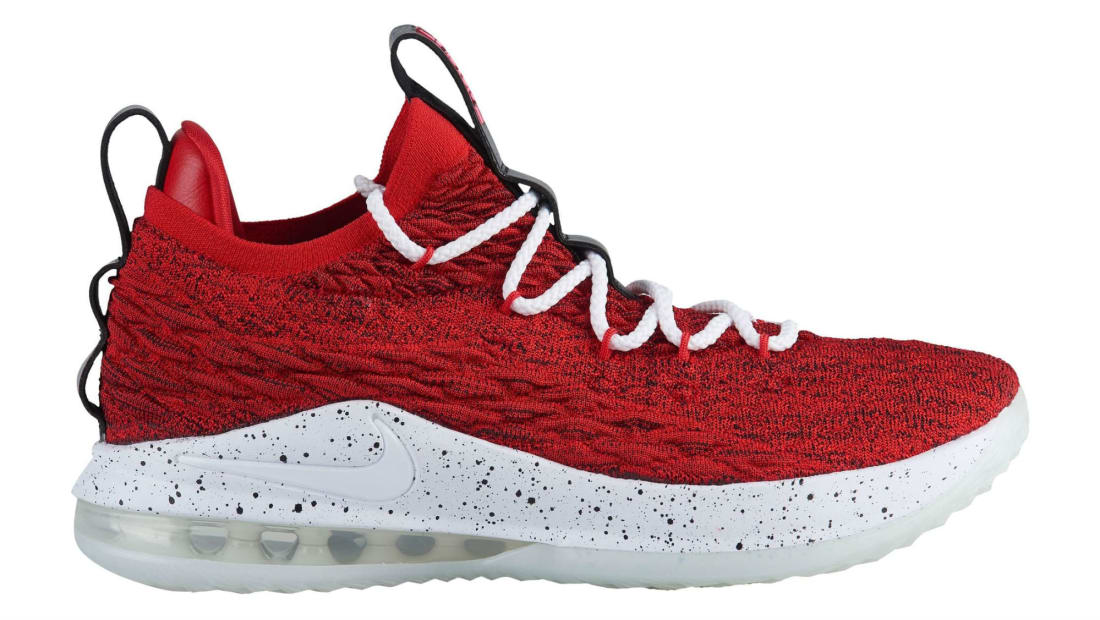 bfedbfacc84a Nike LeBron 15 Low University Red White-Black-White
