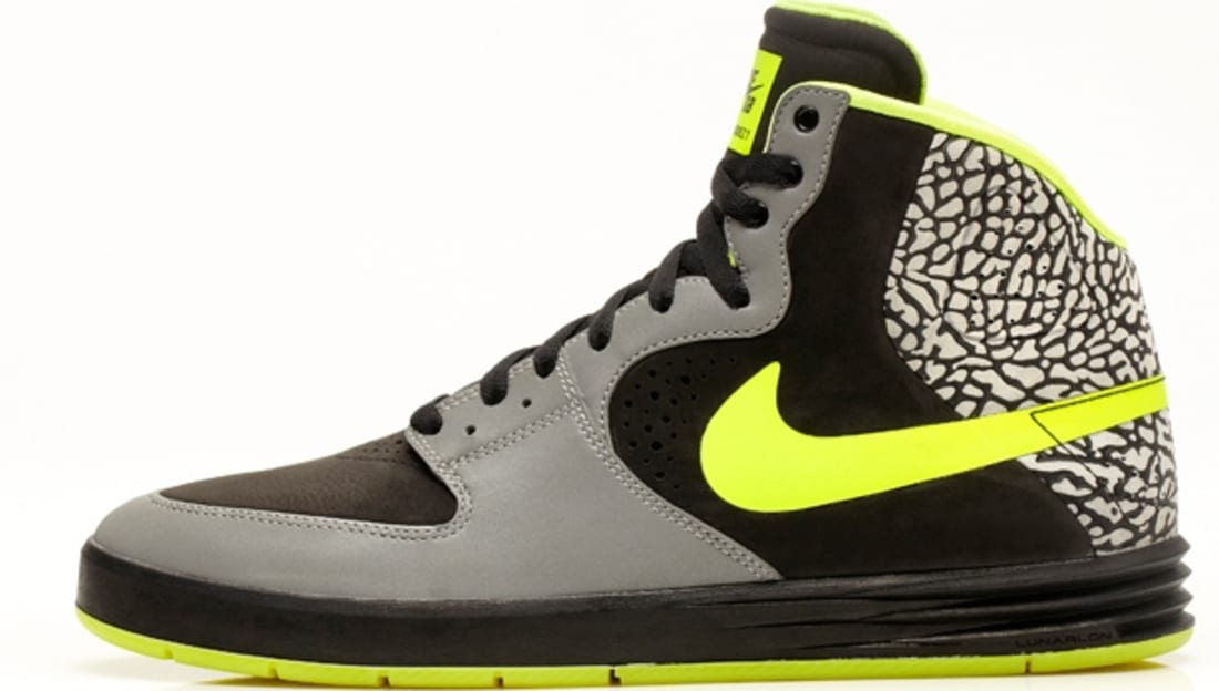 Nike Paul Rodriguez 7 High Premium SB Metallic Silver/Volt-Black