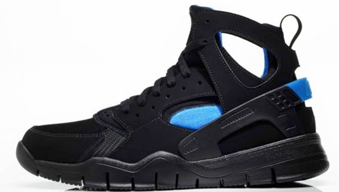 Nike Air Huarache BBall 2012 Black/Black-Italy Blue