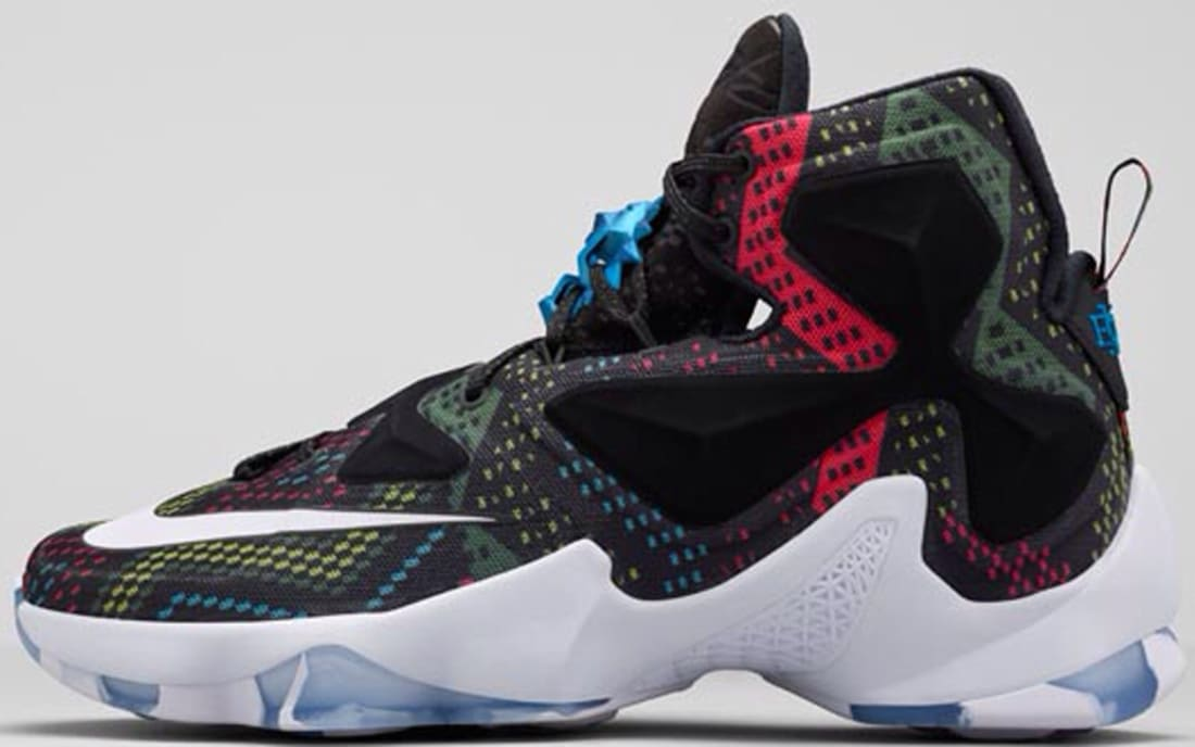 Nike LeBron 13 BHM Multi-Color/White-Black