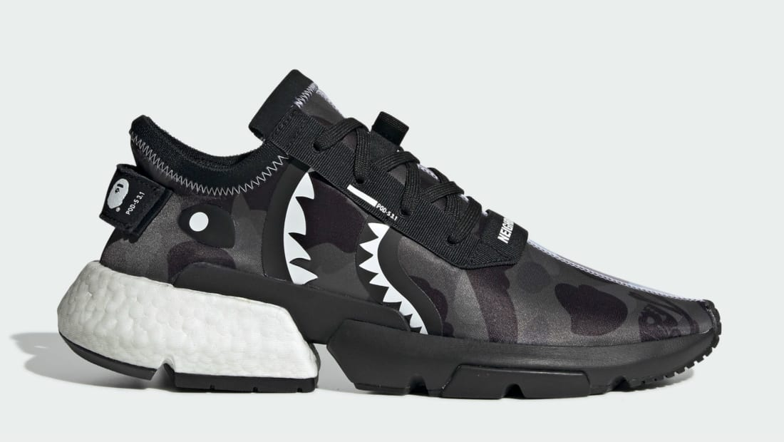 Bape x Neighborhood x Adidas POD-S3.1 Core Black/Cloud White/Core Black
