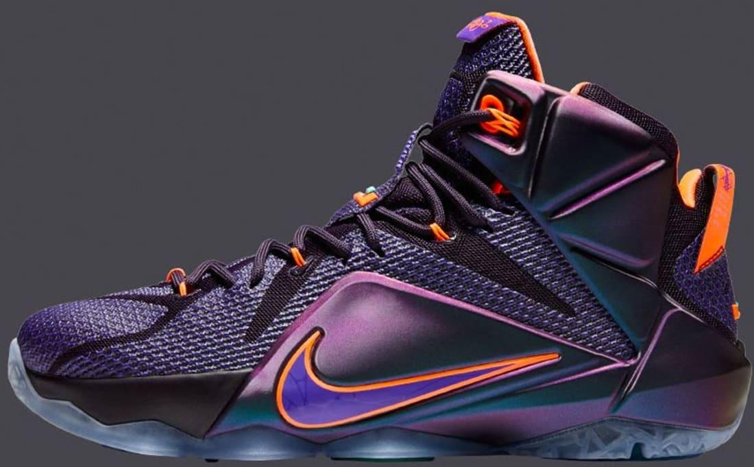 size 40 0f575 44d2d Nike LeBron 12 Cave Purple Hyper Grape-Hyper Crimson-Hyper Turquoise