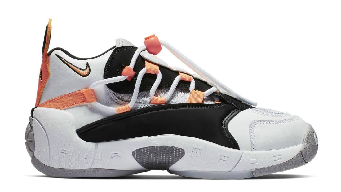 65932cb234f Nike Air Swoopes 2 White Orange Pulse Black-White