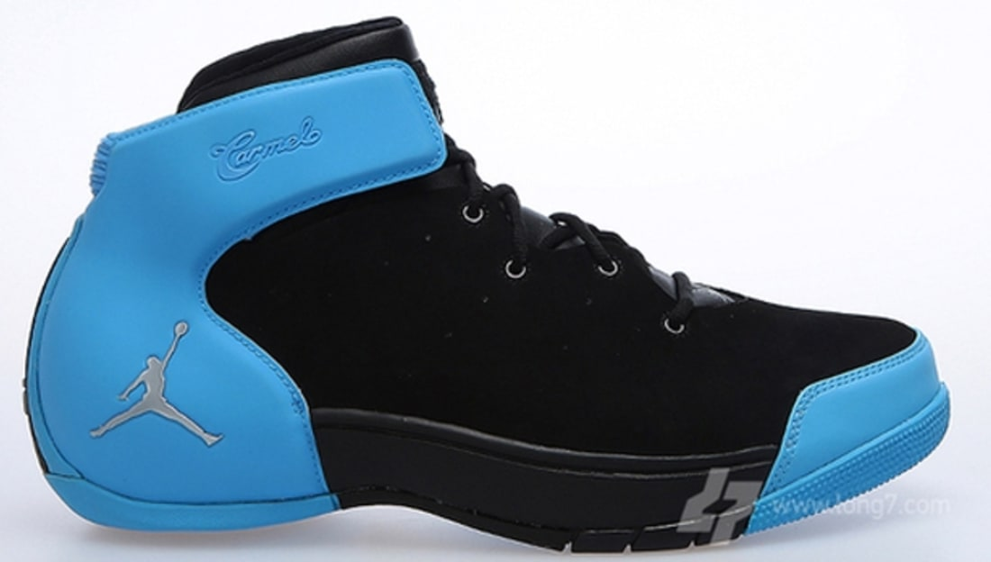 Jordan Melo 1.5 Black/Metallic Silver-University Blue