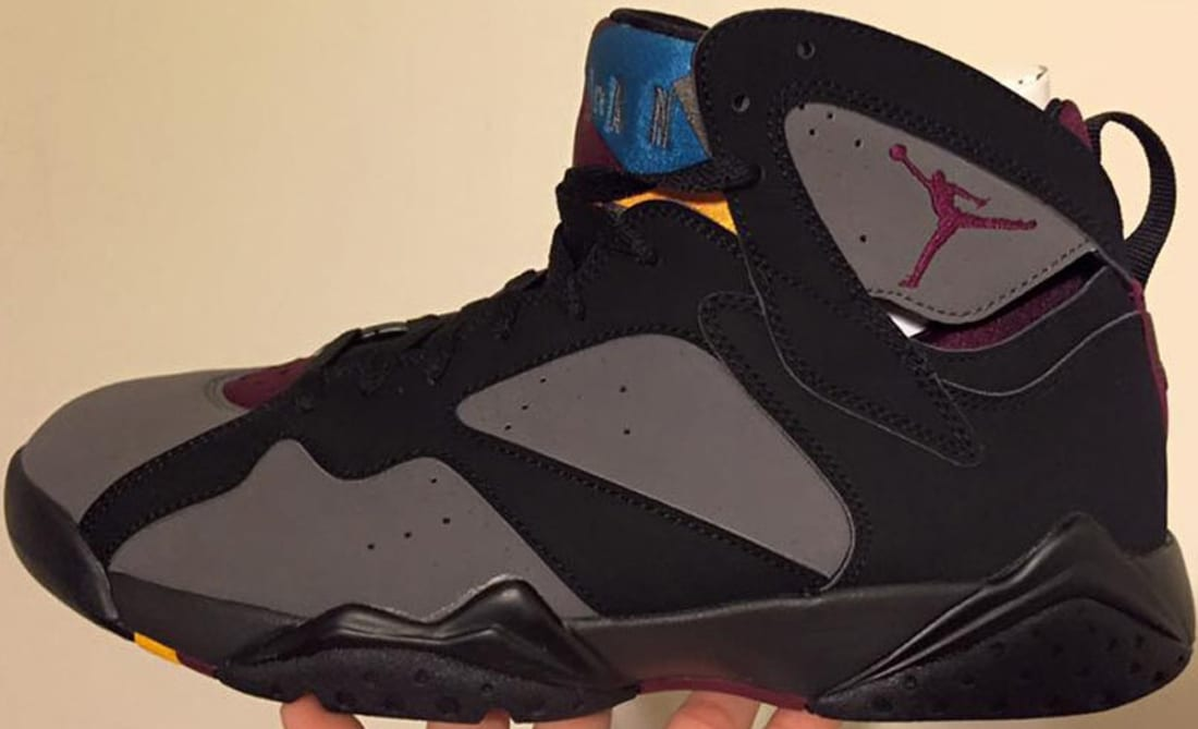 4540141e86d6 Air Jordan 7 Retro Black Bordeaux-Light Graphite-Midnight Fog ...