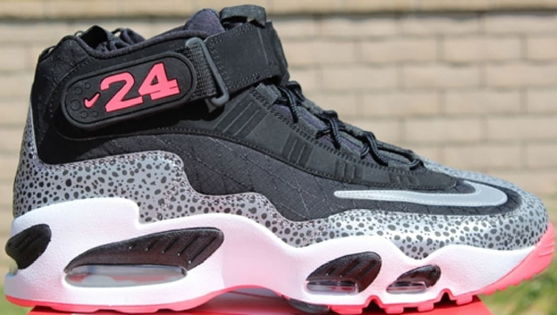 big sale ba36f bc6be Nike Air Griffey Max 1 Premium Safari Black Metallic Silver-White-Atomic Red