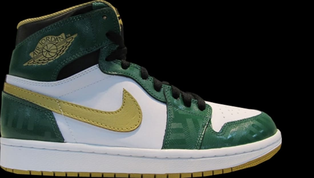 3b60927ca747b3 Air Jordan 1 Retro High OG Celtics Clover Metallic Gold