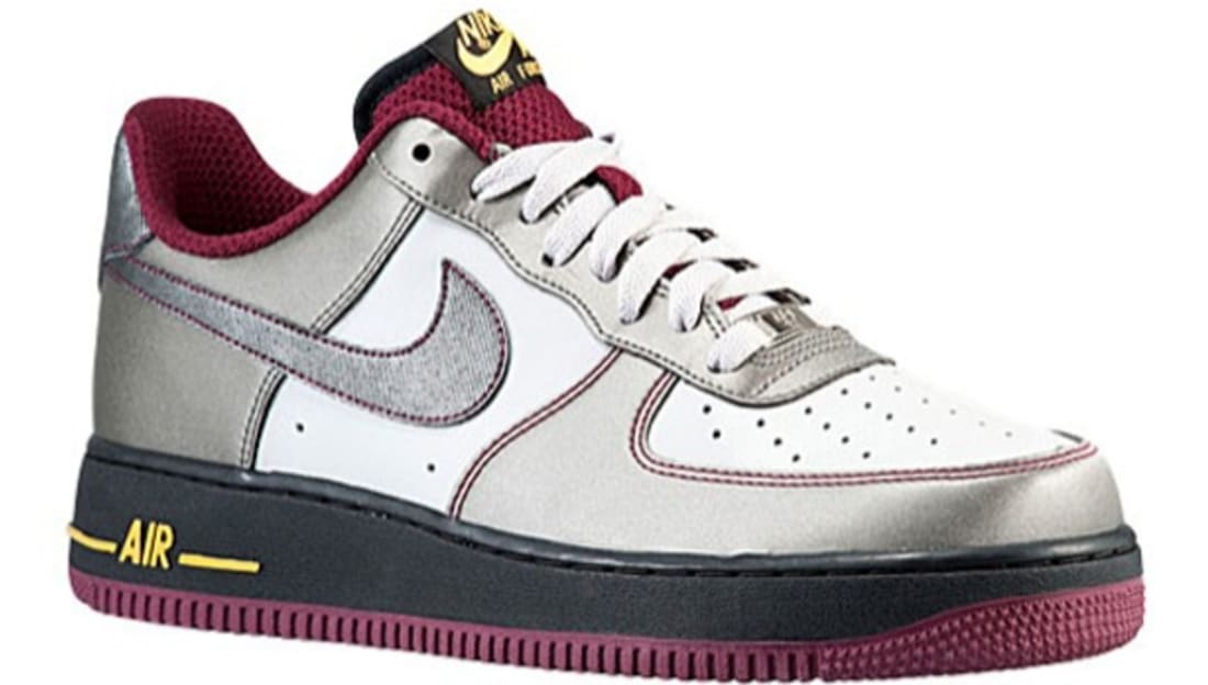 new products a05f3 66467 Nike Air Force 1 Low Dusty Grey/Metallic Pewter-Cherrywood Red ...