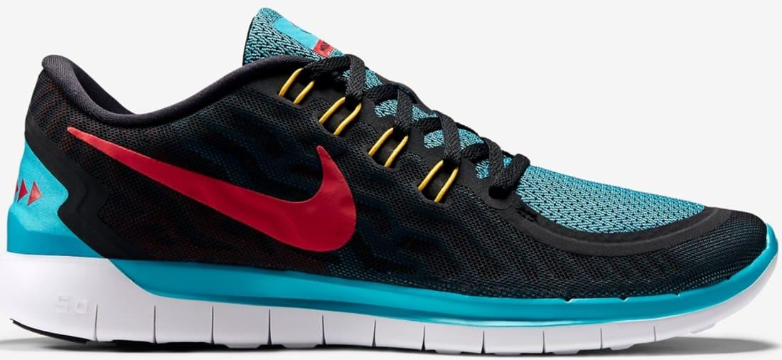 Nike Free 5.0 2015 N7 Black/University Red-Dark Turquoise-White
