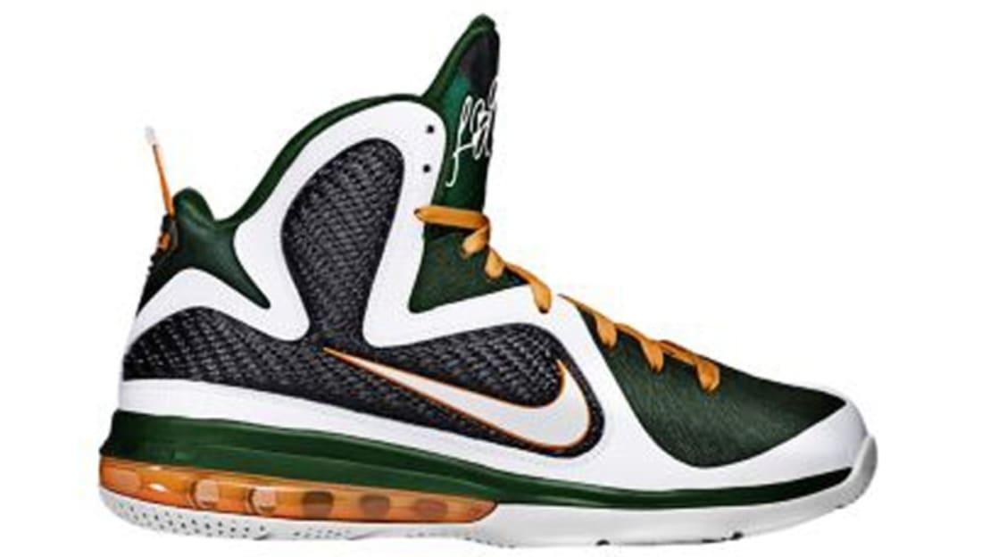 d30b65468f0 Nike LeBron 9 Miami Hurricanes