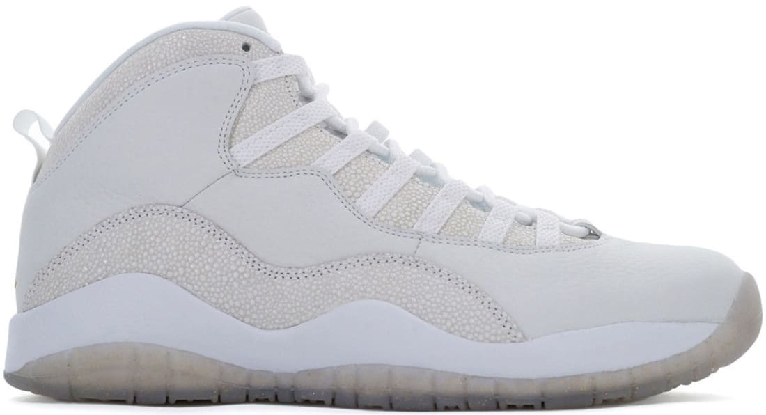 online store d1fab 5159d Air Jordan 10 Retro OVO Summit White Metallic Gold-White