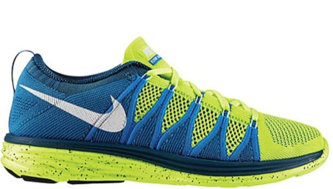 best website 36b90 6267e Nike Flyknit Lunar2 VoltWhite-Blue Glow  Nike  Sole Collecto