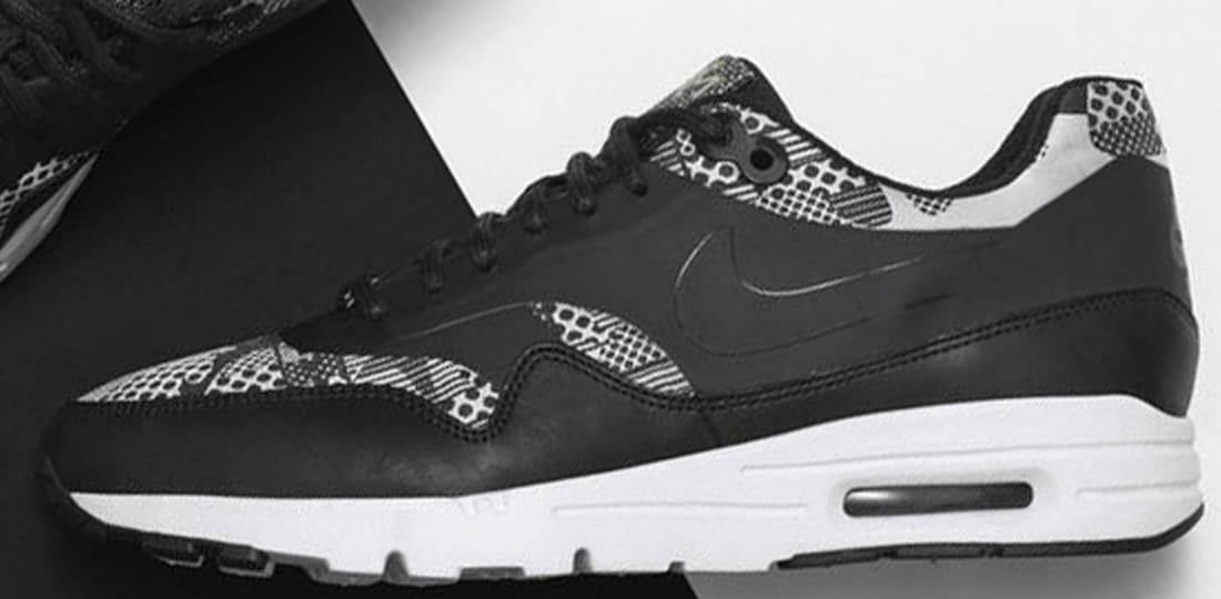 Nike Air Max 1 Ultra BHM Women's Black/White-Metallic Silver-Black