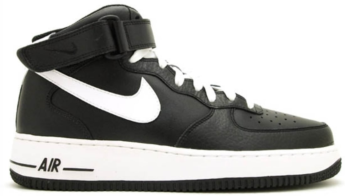 2d146e3ec8ea0a Nike Air Force 1 Mid Black White-Black