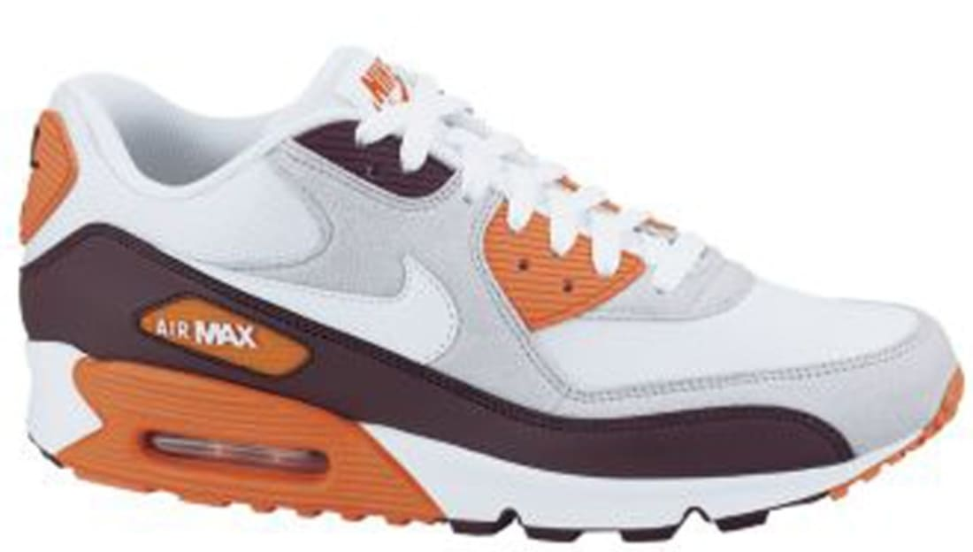 save off 0d2f4 9d55d Nike Air Max  90 Red Mahogany Neutral Grey-Safety Orange-White