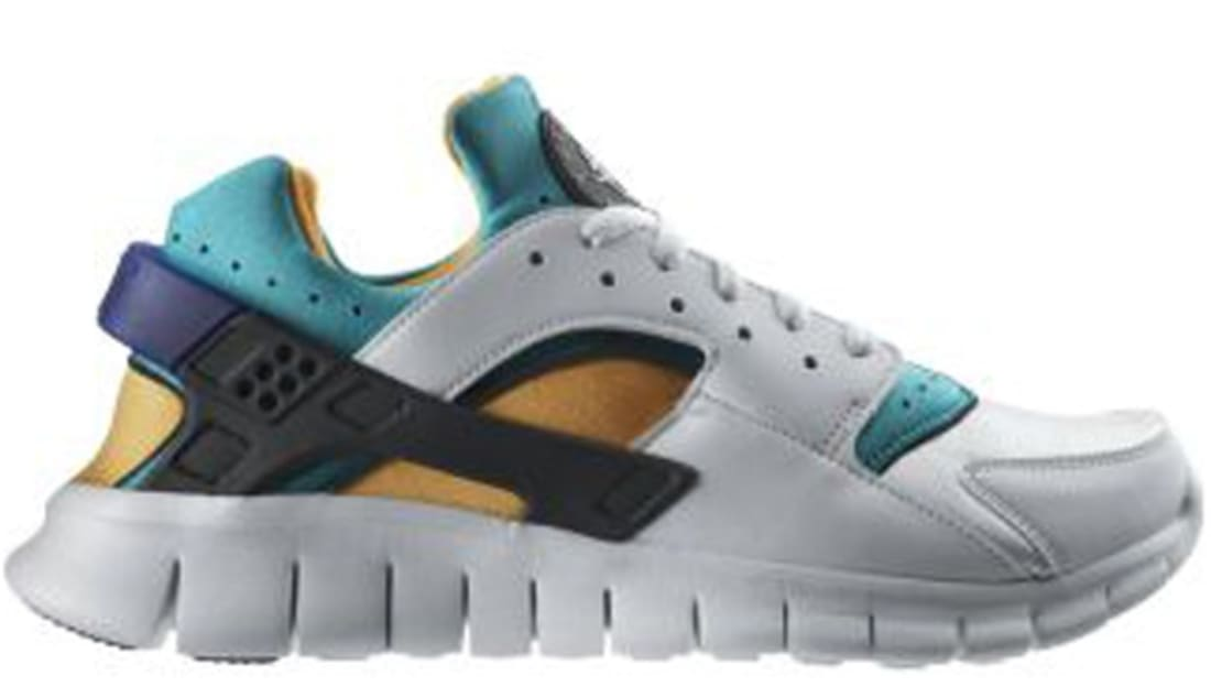6ef53e56bab8b Nike Huarache Free Run 2012 QS White White-Blue Emerald-Resin