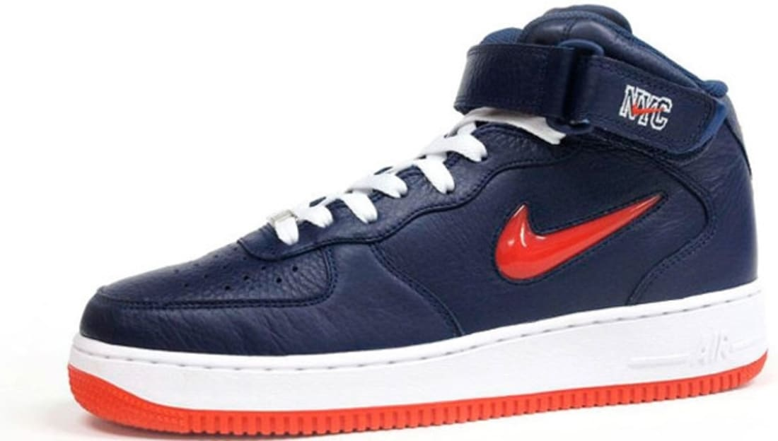 huge discount 0e5ec 38532 Nike Air Force 1 Mid Midnight Navy Team Orange