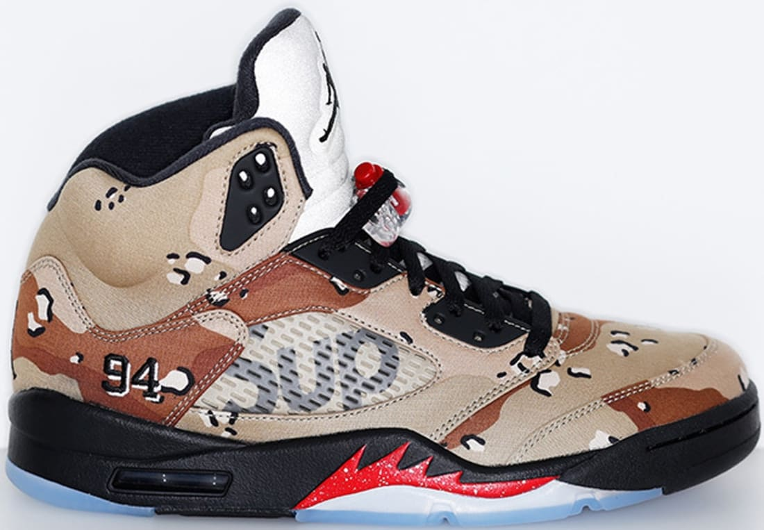 Air Jordan 5 Retro Desert Camo Fire Red Black