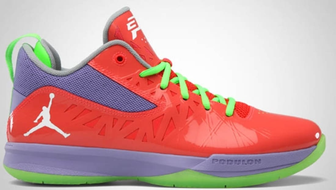 Jordan CP3.V Bright Crimson/White-Violet Purple-Electric Green