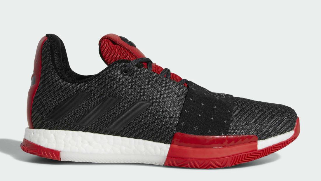b5b03a5a9cd Adidas Harden Vol. 3 Core Black Red Core Black