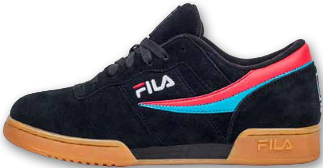 newest 54bcc b4f4e Fila Original Fitness Black Red-Teal