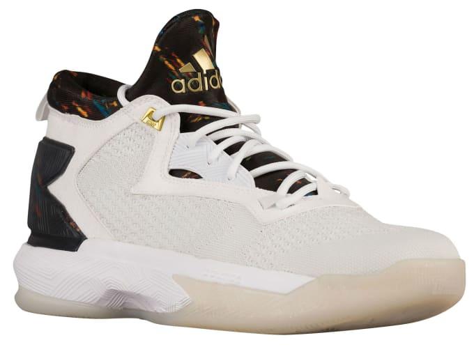 new styles 32bfe 85cac new zealand adidas d lillard 2 white black gold multicolor 7081f 89744