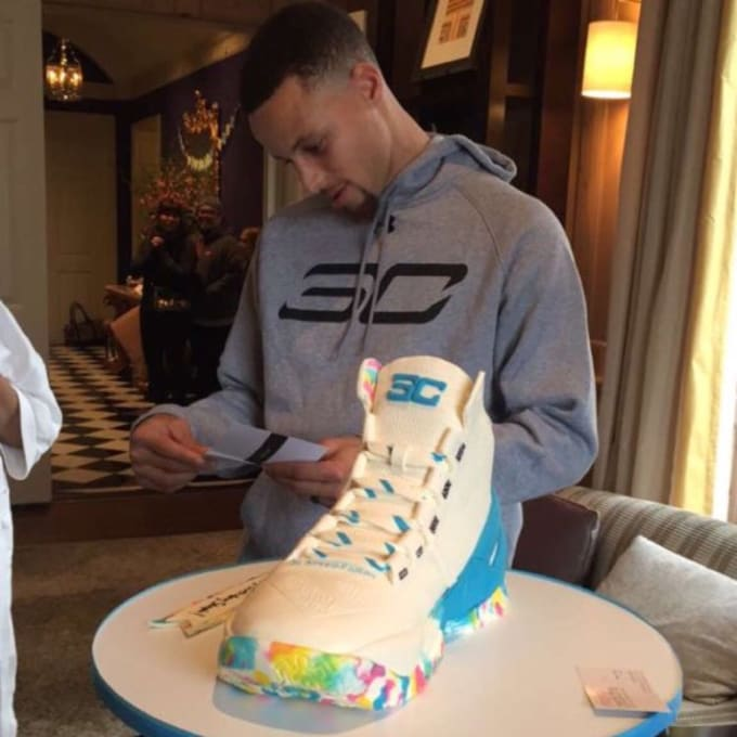 Steph Curry Sneaker Cake Sole Collector