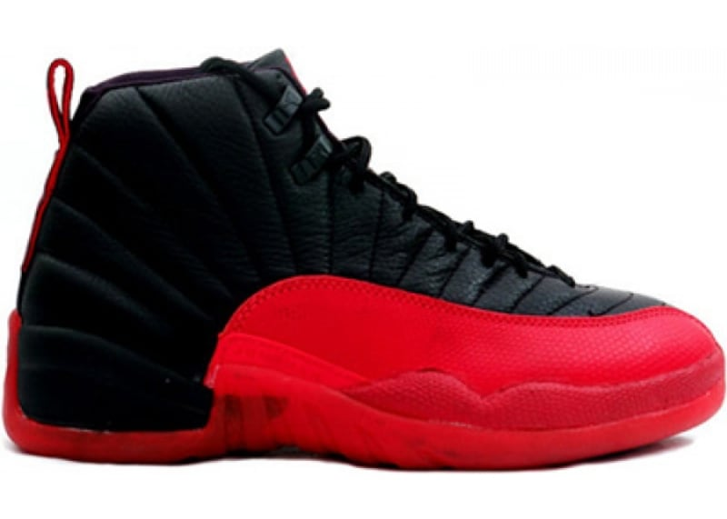 air jordan 12 black and red