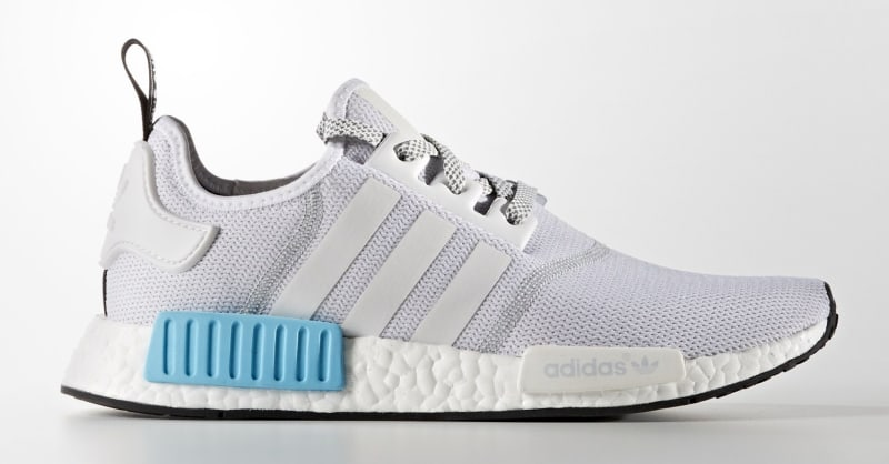 adidas nmd white and blue