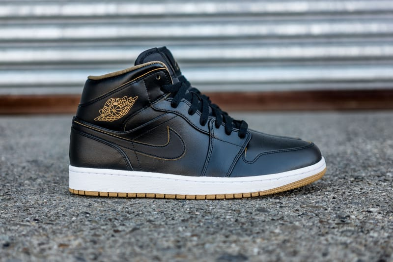black and gold air jordan 1 for sale