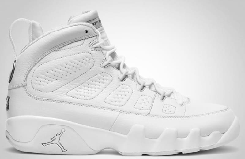 air jordan 9 all white