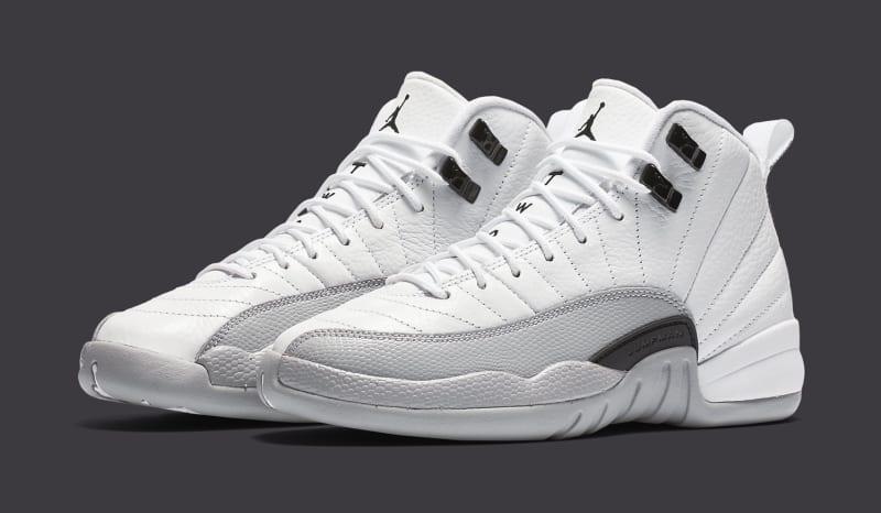 Air Jordan 12 Barons White Grey Shoes