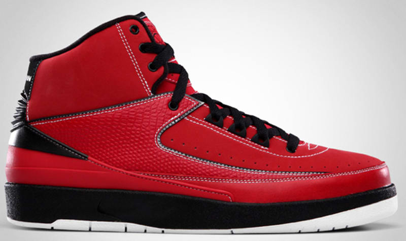 air jordan 2 red black white