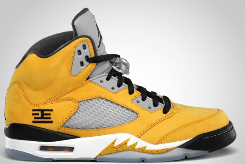 huge selection of 06772 0314f Air Jordan Retro 5 Blue And Yellow