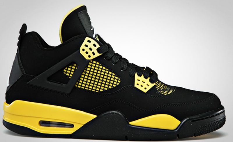 air jordan black and yellow 4