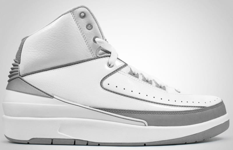 air jordan 2 black and silver