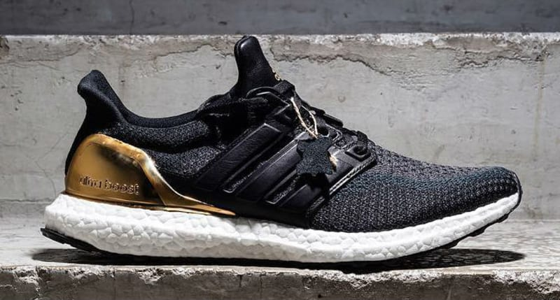 adidas boost black and gold